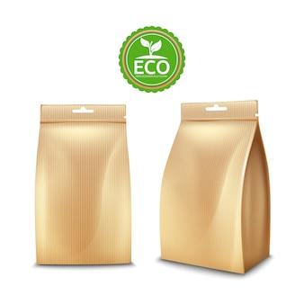 Pacote de saco de papel amigável de eco para alimentos