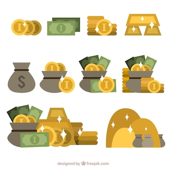 Pacote de sacos de dinheiro