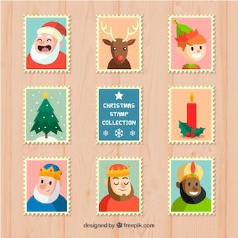 Pacote de selo de natal