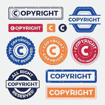 Pacote de selos de direitos autorais