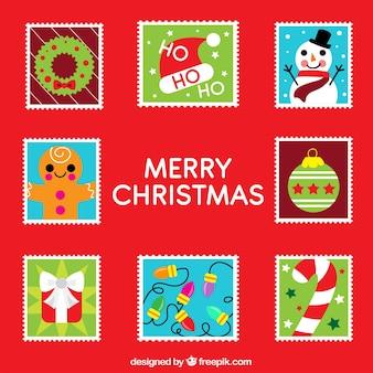 Pacote de selos de natal