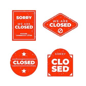 Pacote de selos de selo plano fechado
