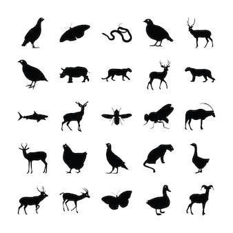 Pacote de silhueta de animais