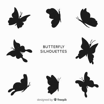 Pacote de silhueta de borboleta