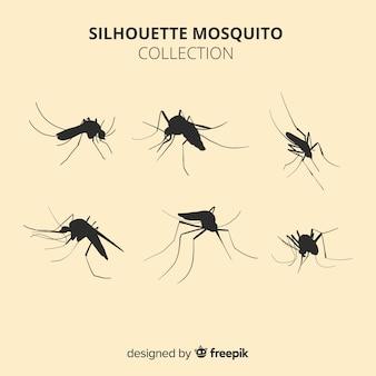 Pacote de silhueta de mosquito criativo