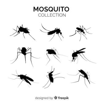 Pacote de silhueta de mosquito de nove