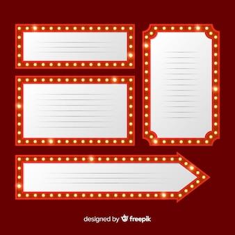 Pacote de sinal de teatro plana