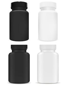 Pacote de suplemento de plástico.