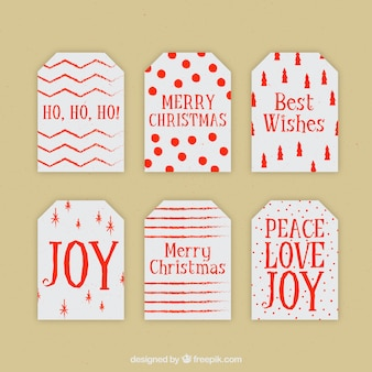 Pacote de tag bonitos do presente do natal