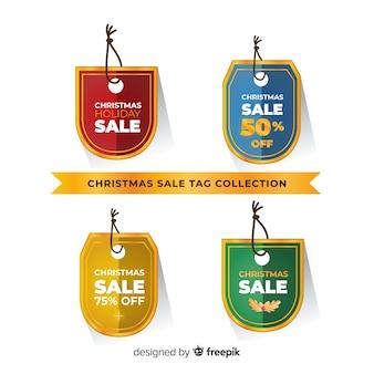 Pacote de tags de venda de natal