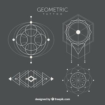 Pacote de tatuagens geométricas étnicas