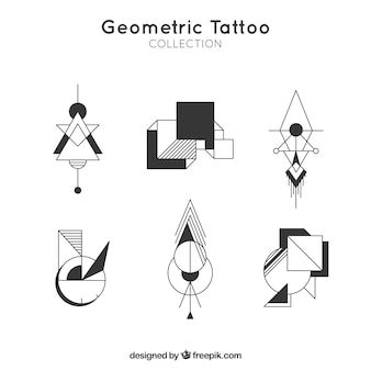 Pacote de tatuagens geométricas modernas