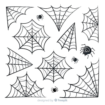 Pacote de teia de aranha do dia das bruxas