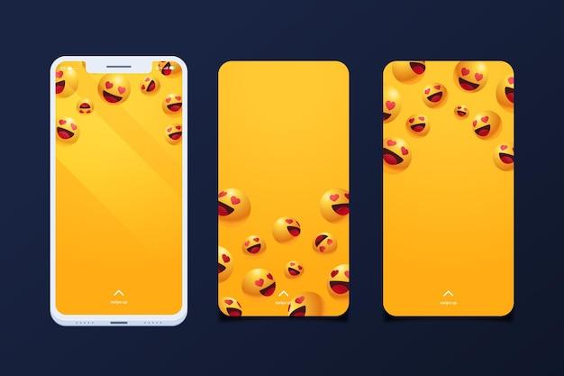 Pacote de telas de smartphone