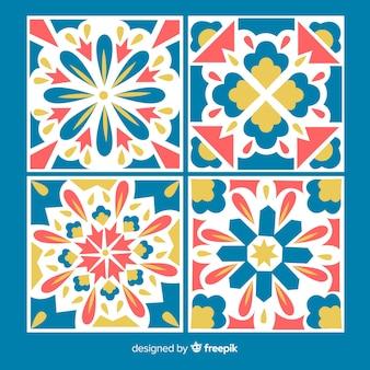 Pacote de telha colorida moderna