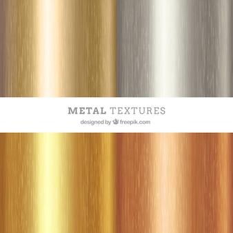 Pacote de textura metálica