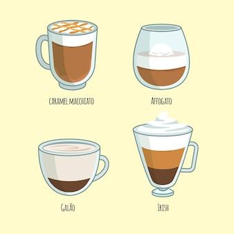 Pacote de tipos de café
