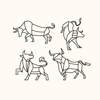 Pacote de touro poligonal