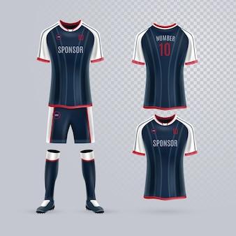 Pacote de uniforme de futebol