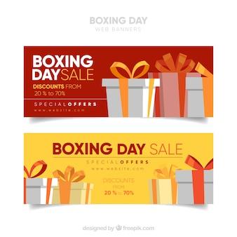 Pacote de venda de banners do dia do boxe