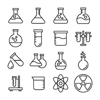 Pacote de vetores de aparelhos científicos