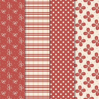 Pacote de vetores de desenhos de padrão de superfície