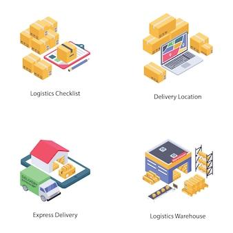 Pacote de vetores de entrega logística