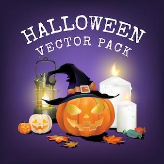 Pacote de vetores de halloween