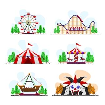 Pacote de vetores de passeio de carnaval