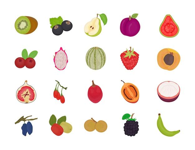Pacote de vetores plana de frutas