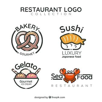 Pacote divertido de logos de restaurantes