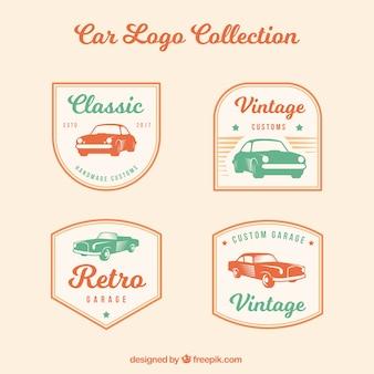 Pacote do logotipo do carro vintage