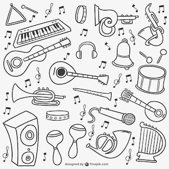 Pacote doodles música