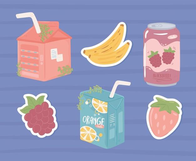 Pacote e suco de refrigerante