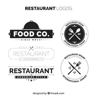 Pacote elegante de logotipos de restaurantes vintage