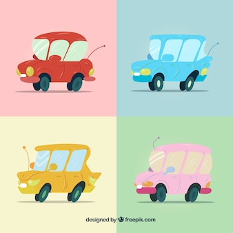 Pacote encantador de carros engraçados