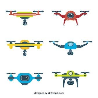 Pacote encantador de drones modernos