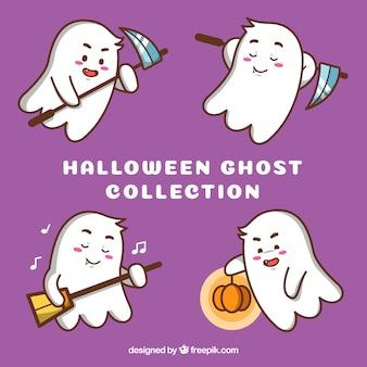 Pacote encantador de fantasmas engraçados