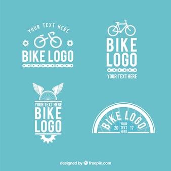 Pacote encantador de logotipos de bicicleta