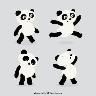 Pacote engraçado panda