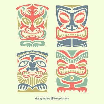 Pacote étnico de máscaras tki