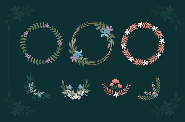 Pacote floral decorativo