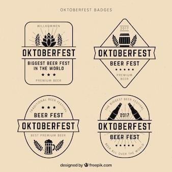 Pacote fresco de emblemas vintage mais oktoberfest