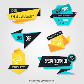 Pacote geométrica de adesivos com ofertas especiais