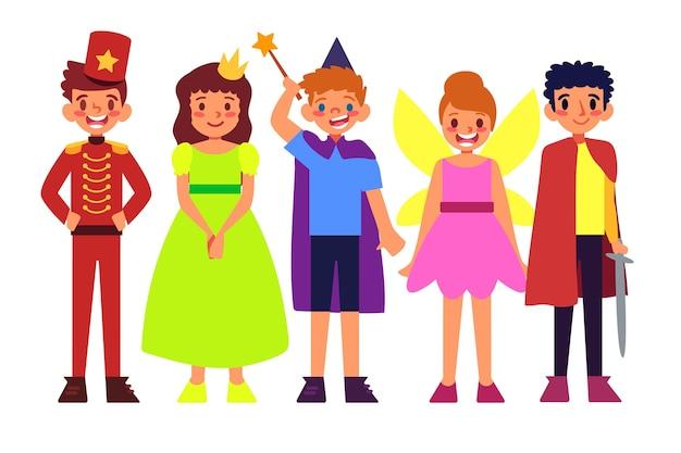 Pacote infantil de carnaval de desenhos animados