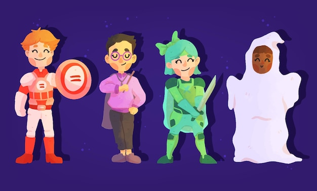 Pacote infantil do festival de halloween