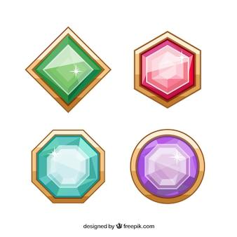 Pacote jóia colorida