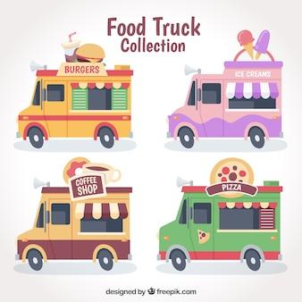 Pacote legal de caminhões de alimentos coloridos