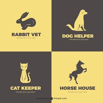 Pacote logos animais