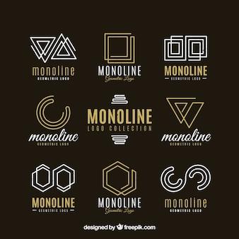 Pacote logotipo logotipo monoline